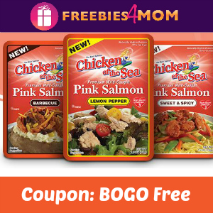 BOGO Free Chicken of the Sea Salmon Pouches