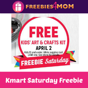 Free Kids' Art & Crafts Kit at Kmart 4/2