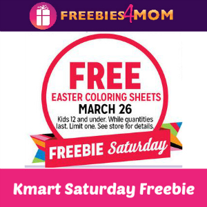 Free Easter Coloring Sheets at Kmart March 26