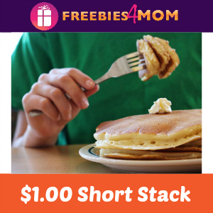 $1.00 Short Stack at IHOP March 17