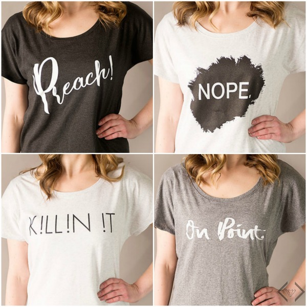 Women's Dolman Graphic Tees $15.95