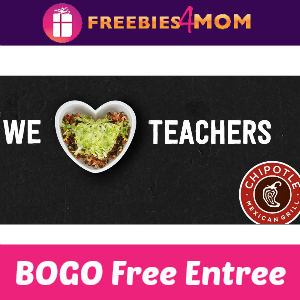 BOGO Free Entree at Chipotle (for Educators)