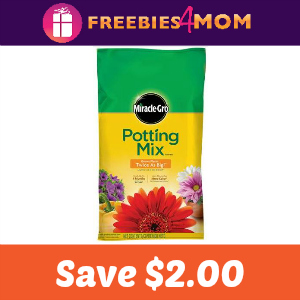 Coupon: Save $2.00 on Miracle Gro Potting Mix