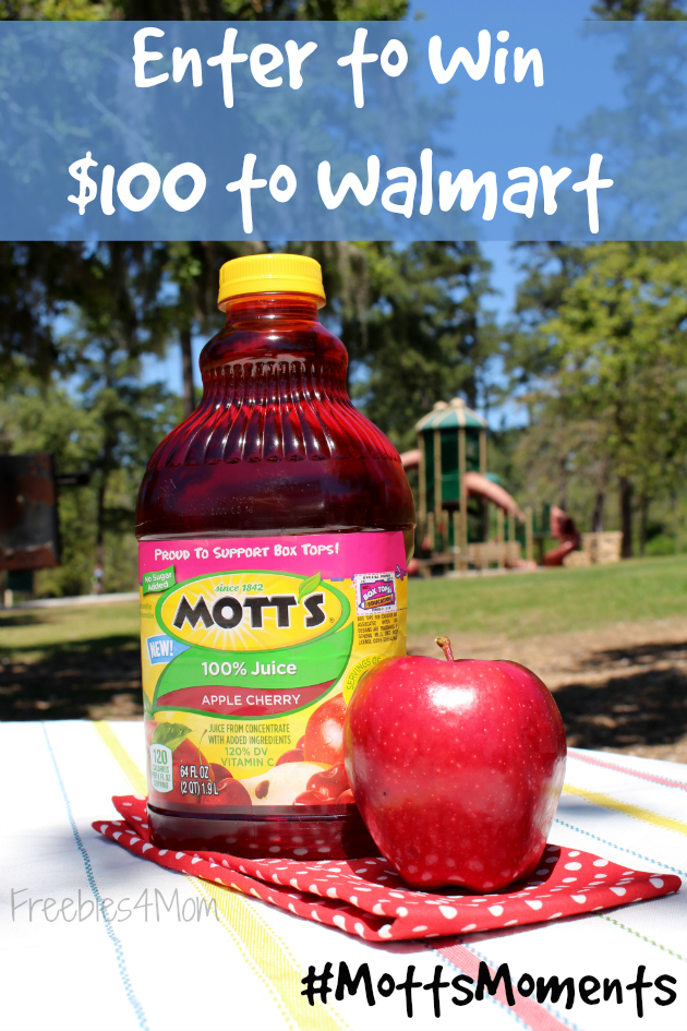 Try Mott's® Apply Cherry Juice & Enter to Win $100 to Walmart
