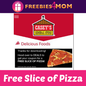 Free Slice of Pizza at Casey's