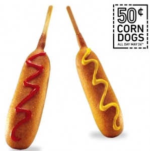 $0.50 Corn Dogs at Sonic TODAY