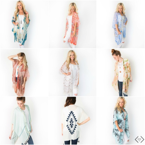 Kimonos Starting at $12.95