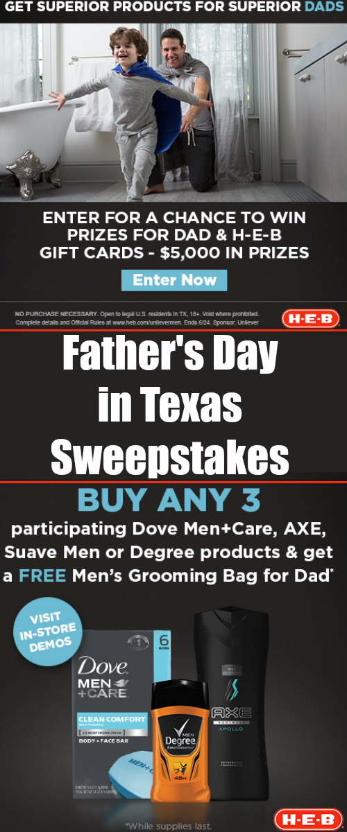 Unilever Father's Day In Texas Sweepstakes