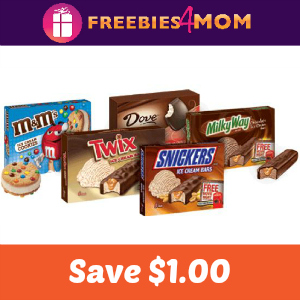 Coupon $1.00 off One Mars Brand Ice Cream