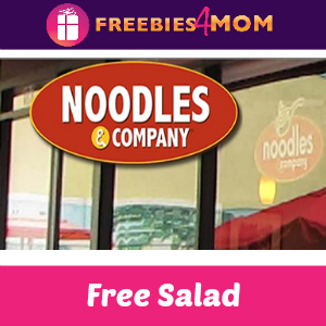 Free Entrée Salad at Noodles & Company