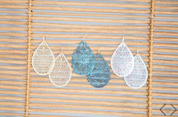 $7.95 Filigree Teardrop Earrings