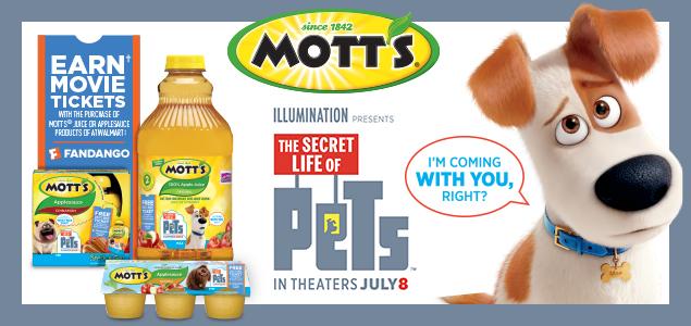 DPSG Mott's Secret Life of Pets - Walmart - June 2016 promotional posts image