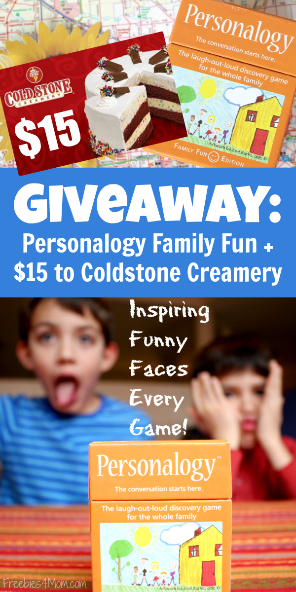Personalogy Family Edition + $15 Coldstone Creamery Gift Card Giveaway