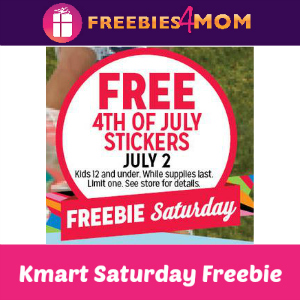 Free 4th of July Stickers at Kmart