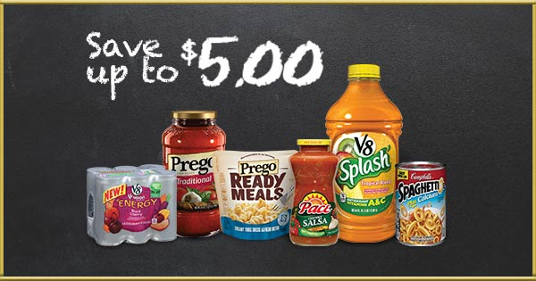 Save Big on Pace®, V8®, Campbell's®, Prego® & more