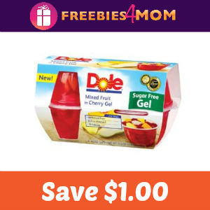 Coupon: Save $1.00 off 2 Dole Fruit In Gel