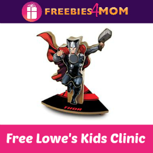 Free Marvel's Thor Kids Clinic at Lowe's July 23