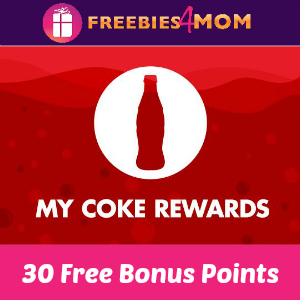 Free 30 My Coke Rewards Bonus Points