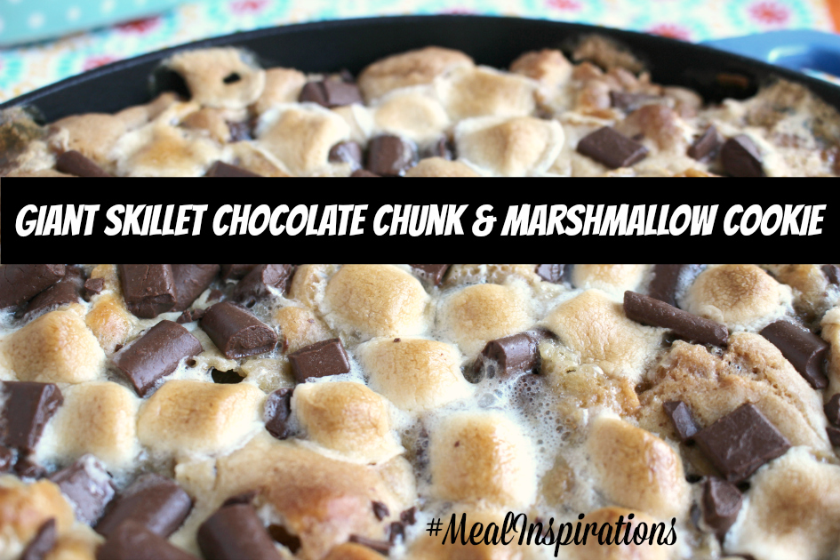 Giant Skillet Country Crock® Chocolate Chunk & Marshmallow Cookie Recipe #MealInspirations