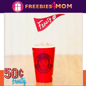 $0.50 Small Frosty at Wendy's