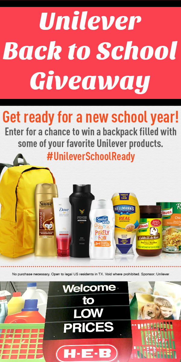Unilever Back To School Giveaway plus Parmesan Crusted Chicken Recipe