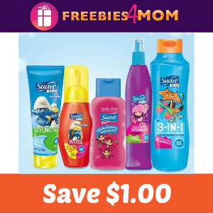 Coupon: $1.00 off one Suave Kids Hair Care