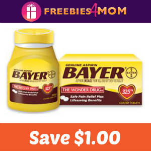 Save $1.00 off Bayer Aspirin