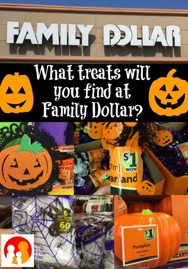 Shop Family Dollar for Halloween Decor and Halloween Candy