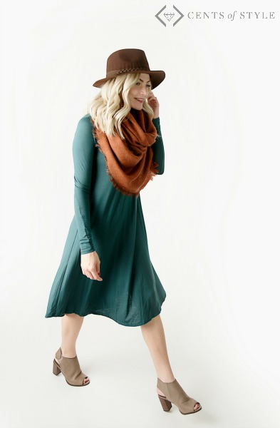 $21.95 Long Sleeve Swing Dress