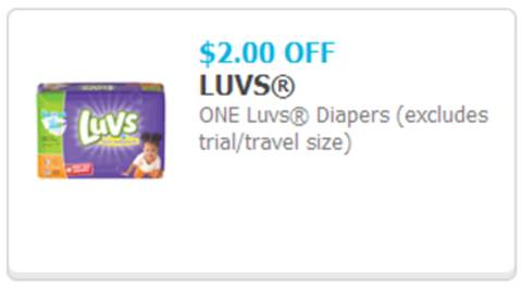 Save $2.00 on Luvs Diapers with Printable Luvs Coupon