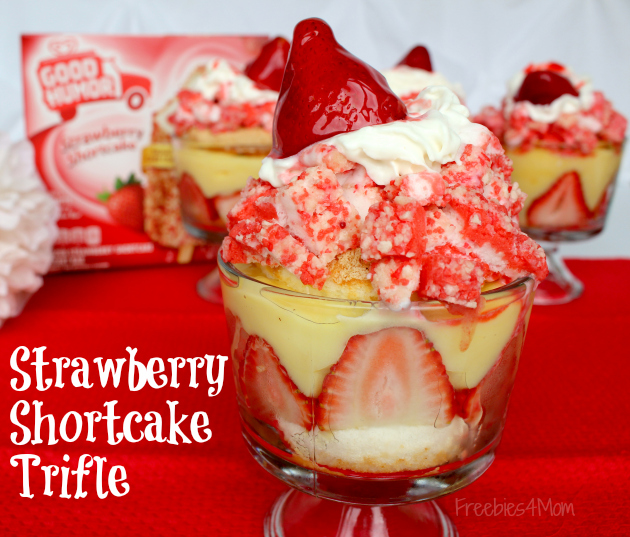 Strawberry Shortcake Trifle Recipe made with Good Humor