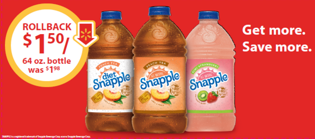Snapple Deal at Walmart #SnappleRollback