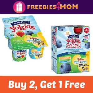 Buy 2 Get 1 Free Stonyfield Organic YoKids