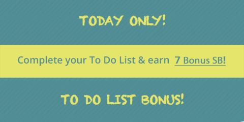 Earn Swagbucks Bonus with Wednesday's Big To Do List