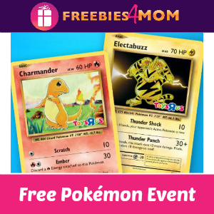 Free Pokémon Event at Toys R Us Oct. 30