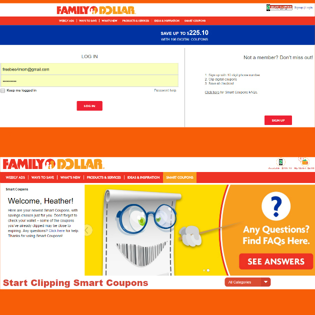 Smart Coupons at Family Dollar