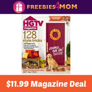 Magazine Deal: HGTV $11.99 (thru Saturday)