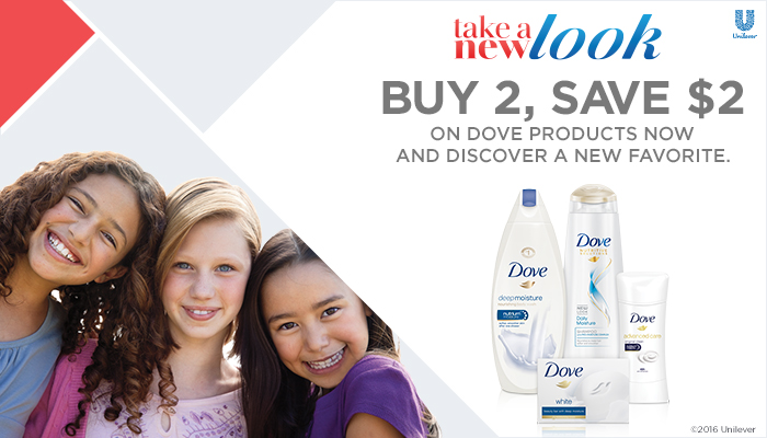 Take a New Look at Dove: Buy 2, Save $2 at Randalls