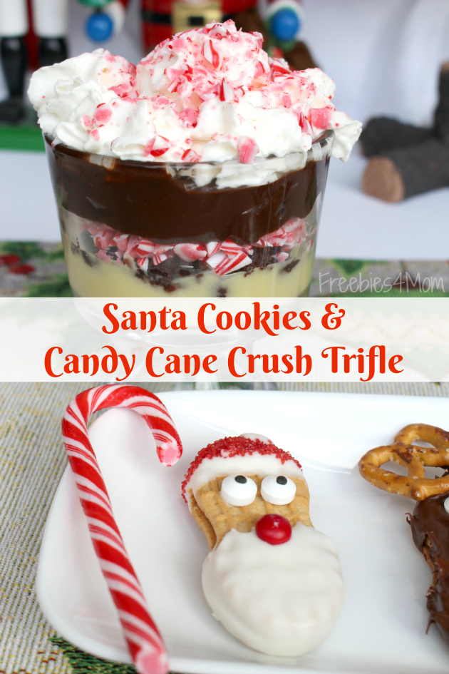 Santa Cookies and Candy Cane Crush Trifle from Family Dollar