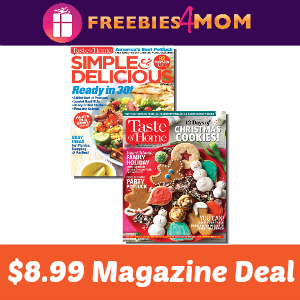 Taste of Home & Simple & Delicious Bundle $8.99