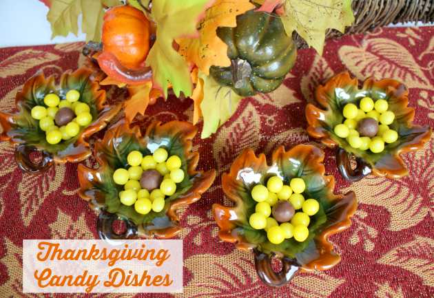 Thanksgiving Candy Dishes made from Family Dollar