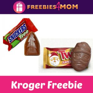Free Snickers Tree or Twix Santa at Kroger