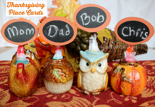 Thanksgiving Place Cards from Family Dollar