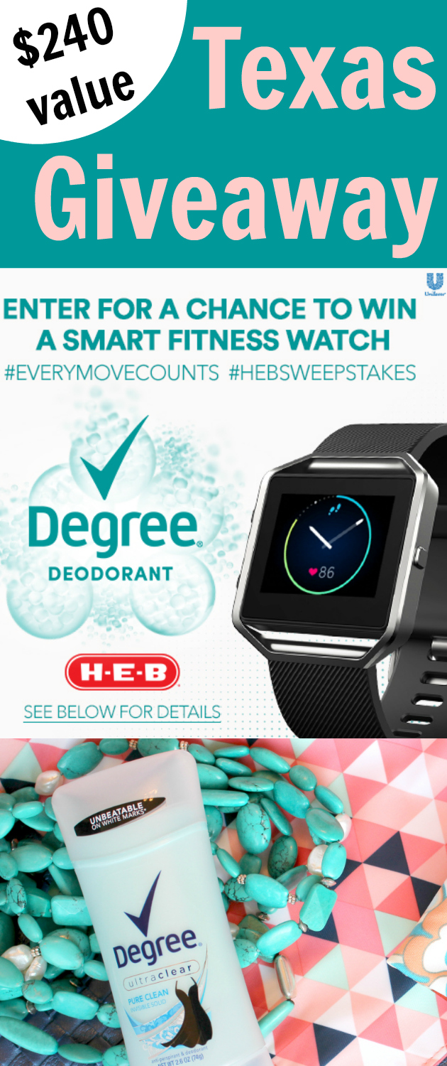 Smart Fitness Watch Giveaway: Save on Degree MOTIONSENSE at H-E-B