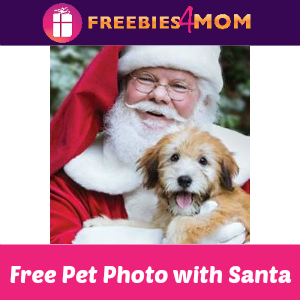 Free Pet Photo with Santa