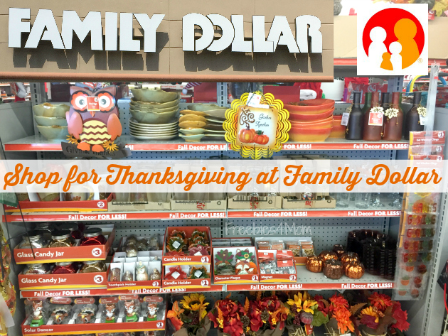 Shop for Thanksgiving at Family Dollar