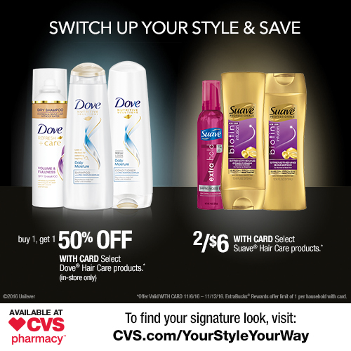 CVS Beauty Deals: TRESemmé, Dove and Suave®