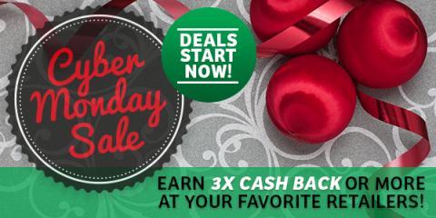 Cyber Monday Deals: Triple Cash Back