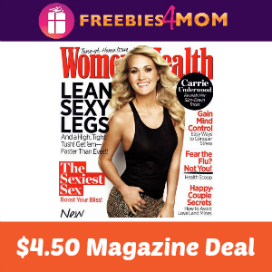 Magazine Deal: Women's Health $4.50