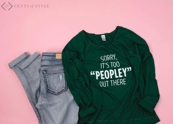 $15 Off Too Peopley Tee & Sweatshirt